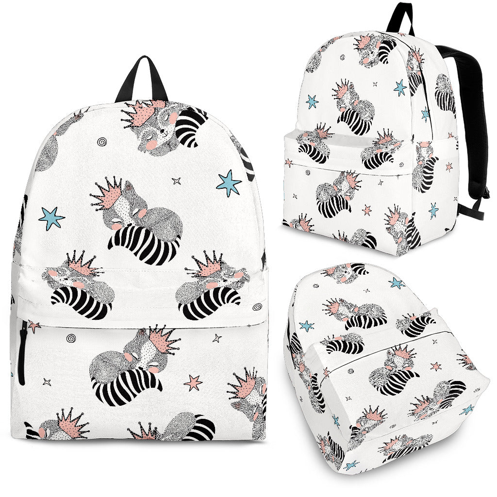 Sleep Raccoon Pattern Backpack