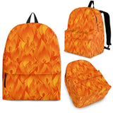 Red Flame Fire Pattern Backpack