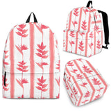 Heliconia Pink White Pattern Backpack