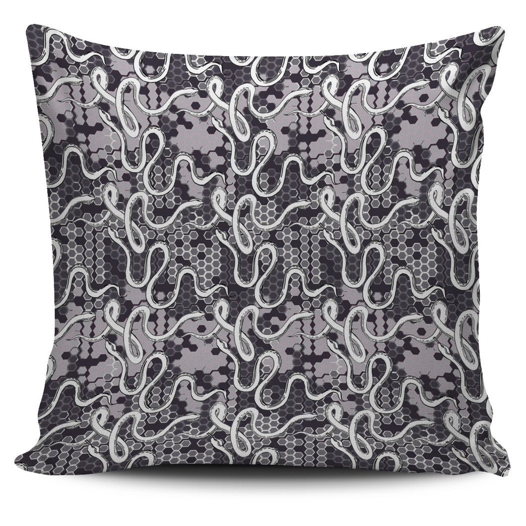 Snake Gray Pattern Pillow Cover