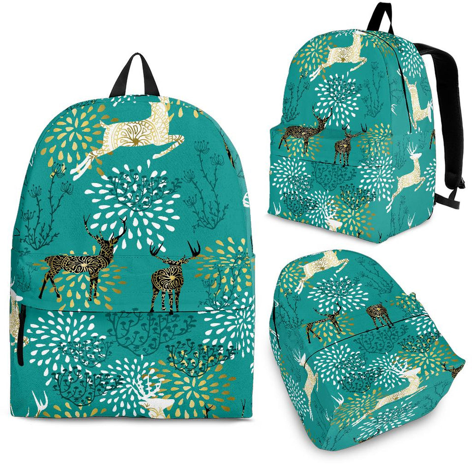 Deer Pattern Backpack