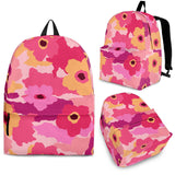 Pink Camo Camouflage Flower Pattern Backpack