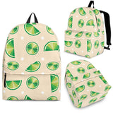 Lime Pattern Backpack