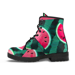 Watermelon Pattern Leather Boots