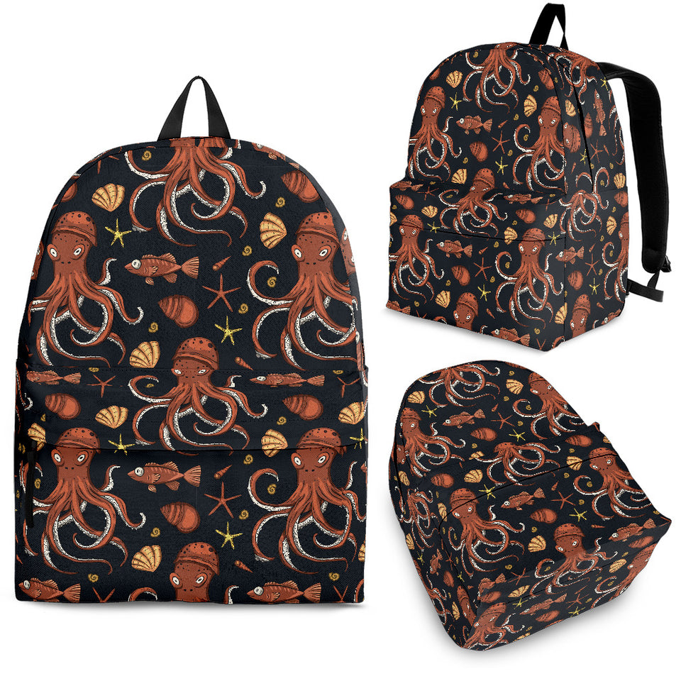 Octopus Pattern Backpack