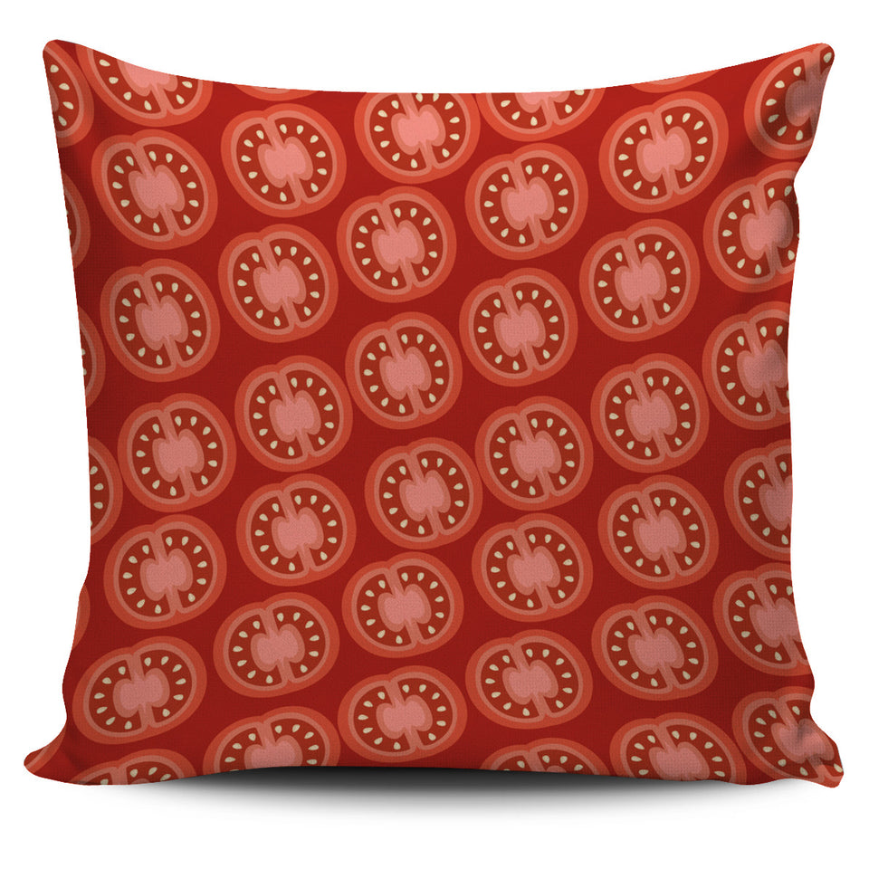 Sliced Tomato Pattern Pillow Cover