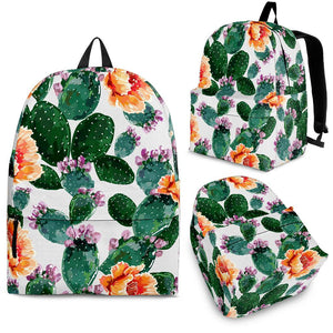Cactus and Flower Pattern Backpack