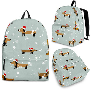 Dachshund Chirstmas Pattern Backpack