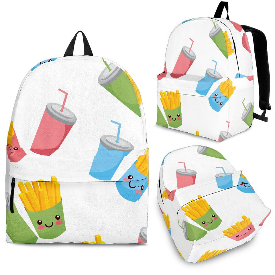 Colorful French Fries Pattern Backpack