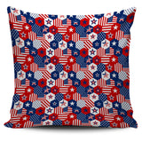 USA Star Hexagon Pattern Pillow Cover