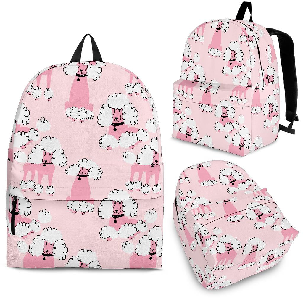 Poodle Pattern Backpack