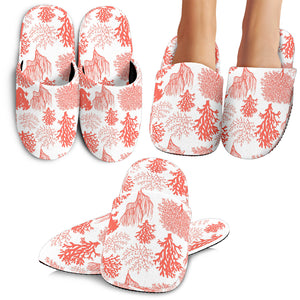 Coral Reef Pattern Print Design 05 Slippers