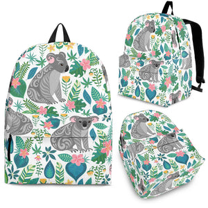 Koala Leaves Pattern Backpack