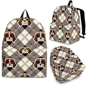 Beagle with Sunglass Pattern Backpack