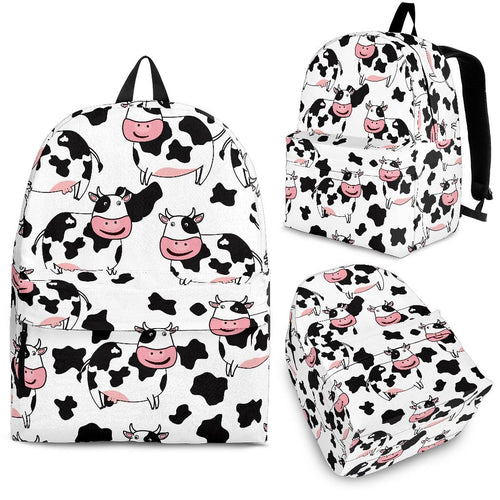 Cute Cow Pattern Backpack