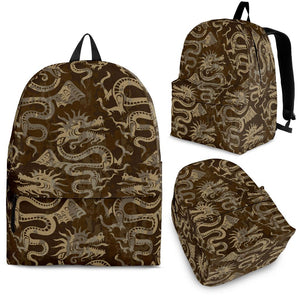 Dragon Pattern Backpack