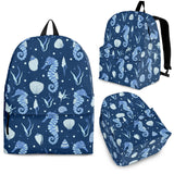Seahorse Shell Pattern Backpack