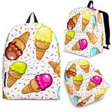Color Ice Cream Cone Pattern Backpack