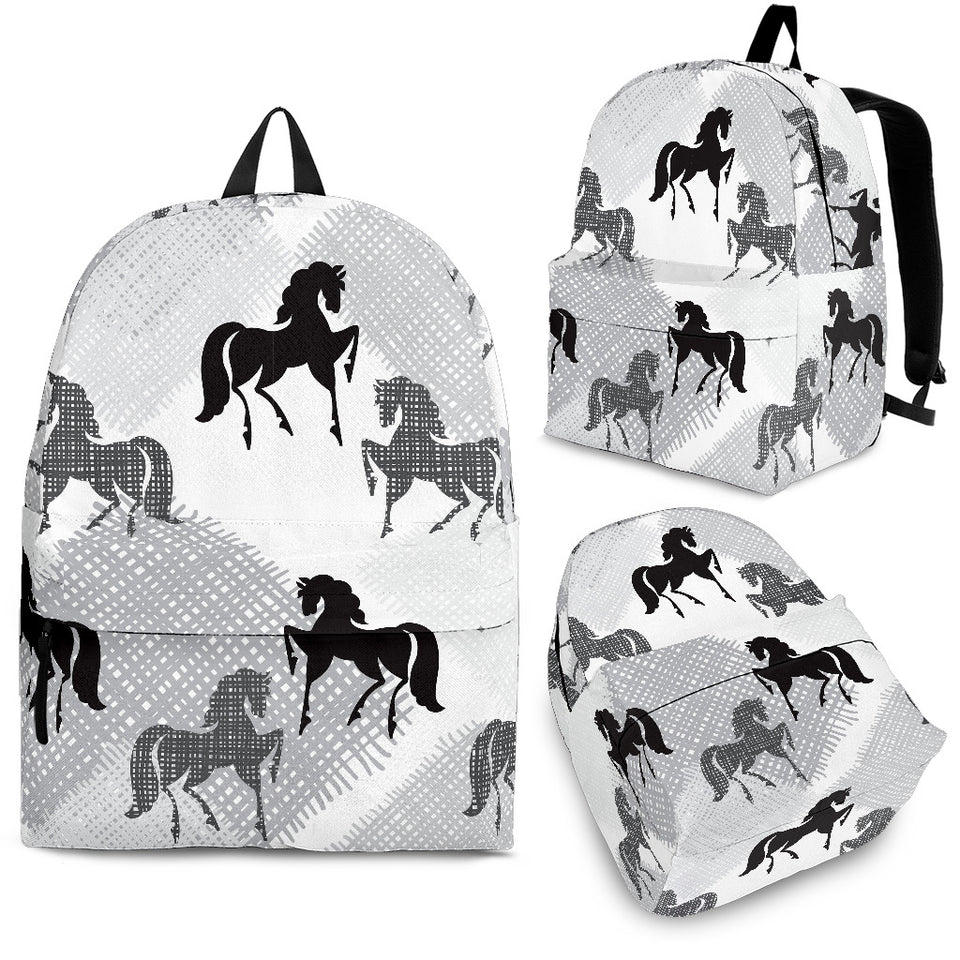 Horse Pattern Backpack