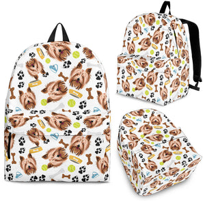 Yorkshire Terrier Pattern Print Design 05 Backpack