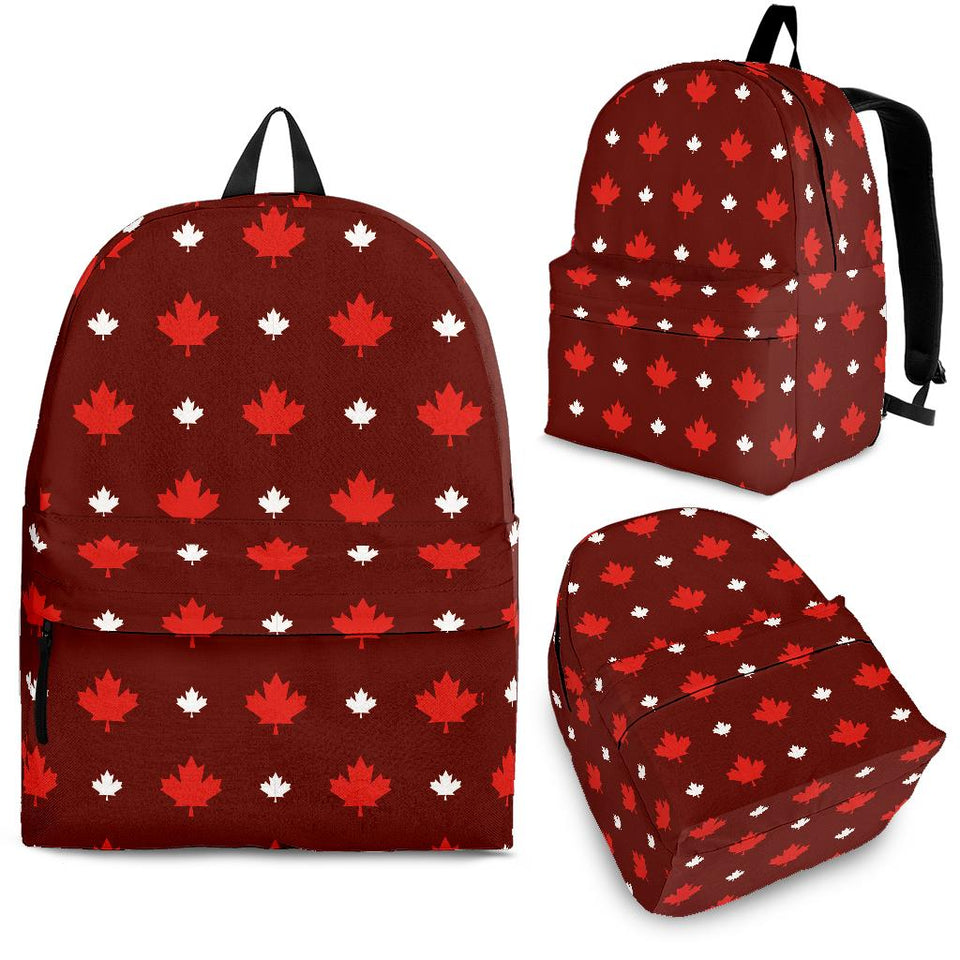 Canadian Maple Leaves Pattern background Backpack