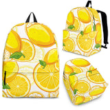 Lemon Pattern Background Backpack
