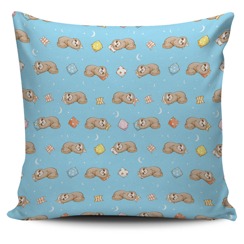 Sleep Sloth Pattern Pillow Cover