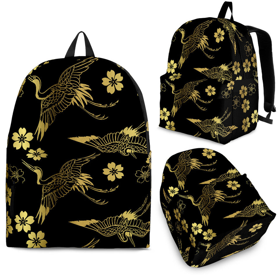 Gold Japanese Theme Pattern Backpack