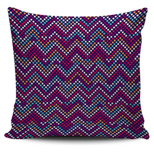 Zigzag Chevron Pokka Dot Aboriginal Pattern Pillow Cover