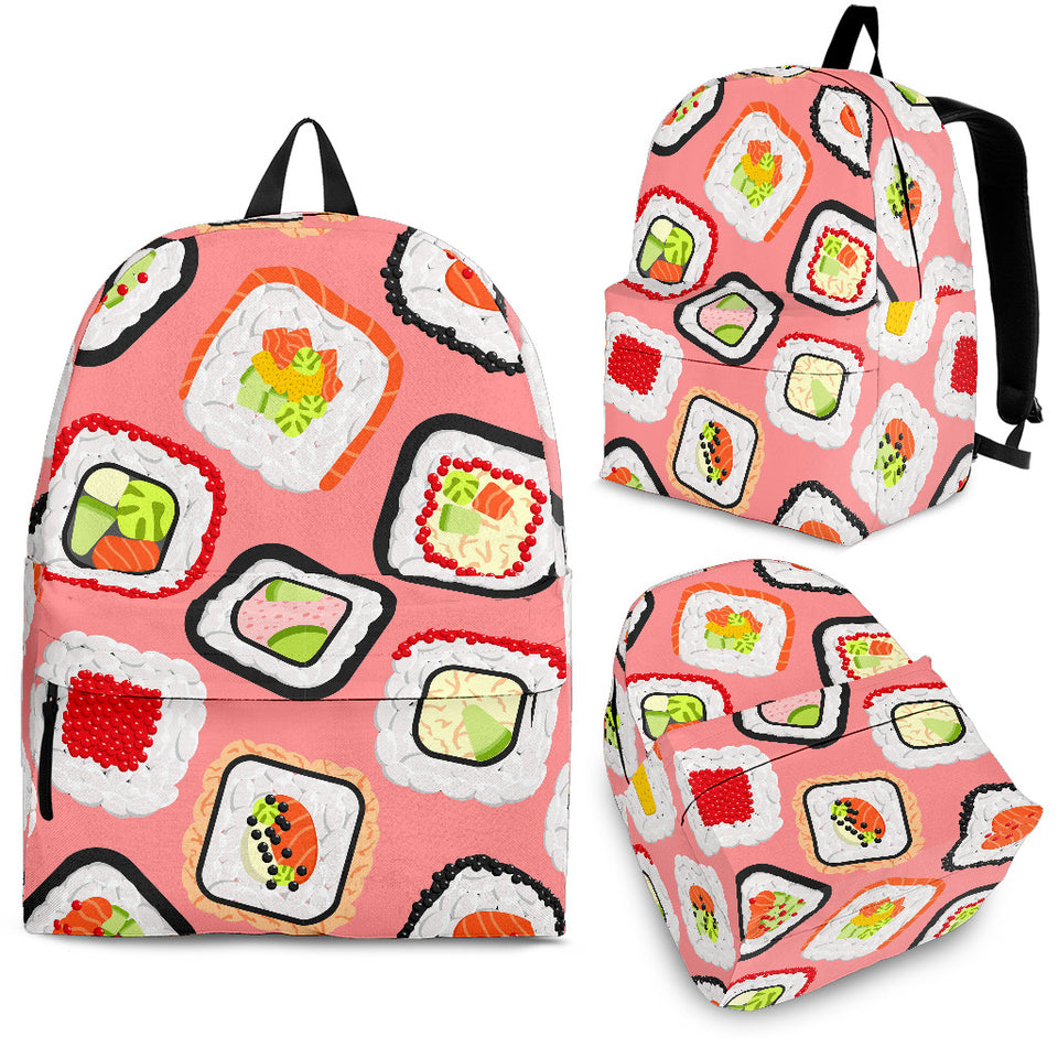Sushi Roll Pattern Backpack