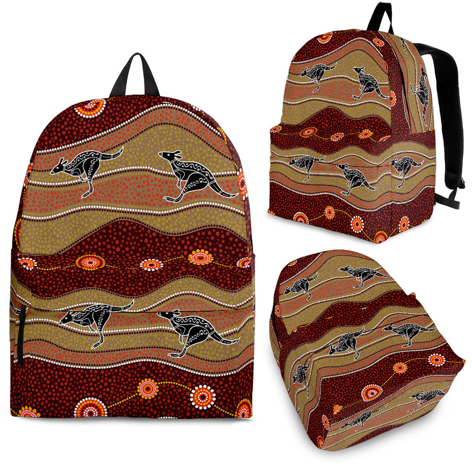 Kangaroo Aboriginal Pattern Backpack