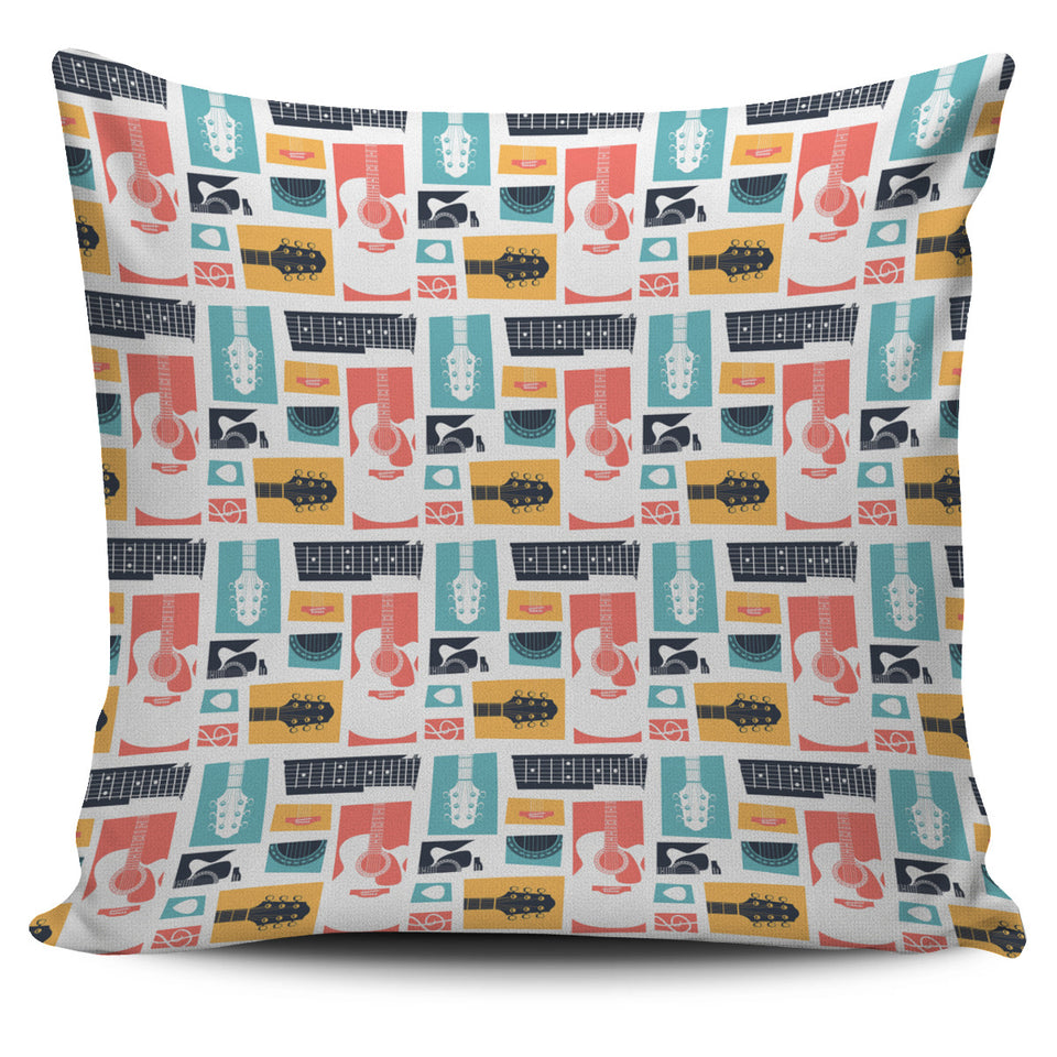 Guitar Pattern Background Pillow Cover