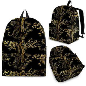 Bengal Tiger and Tree Pattern Backpack