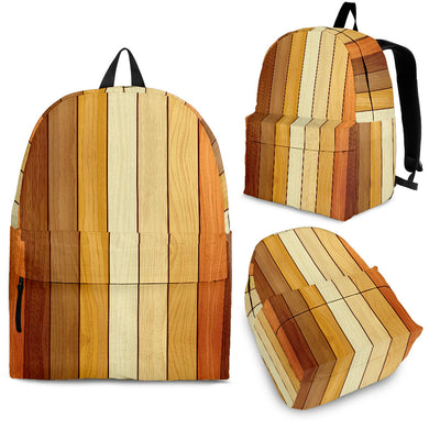 Wood Printed Pattern Print Design 01 Backpack