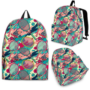 Tennis Pattern Print Design 01 Backpack