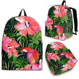 Parrot Leaves Pattern Backpack