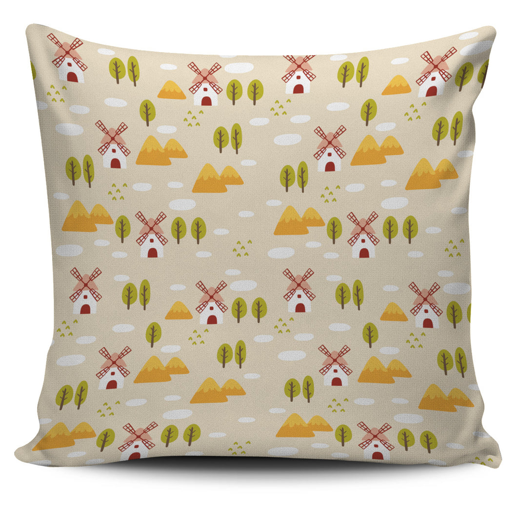 Windmill Pattern Pillow Cover