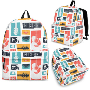 Guitar Pattern Background Backpack