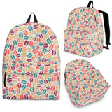 Colorful Coffee Bean Pattern Backpack