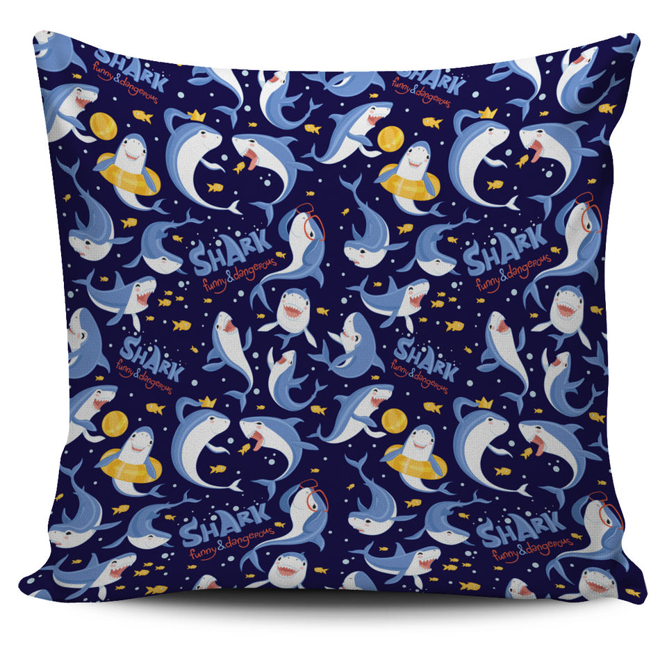 Shark Funny Pattern Pillow Cover