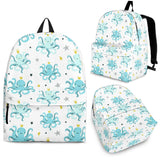 Octopus Blue Pattern Backpack