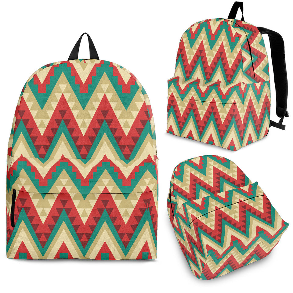 Zigzag Chevron Pattern Backpack