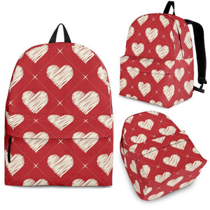 Heart Red Pattern Backpack