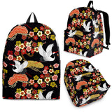 Japanese Crane Pattern Backpack