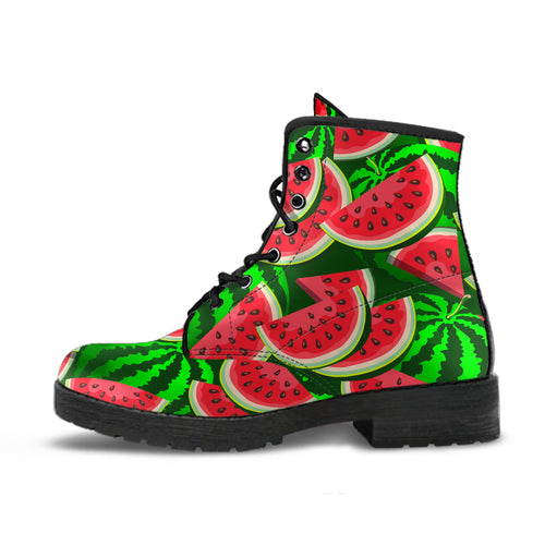 Watermelon Pattern Theme Leather Boots
