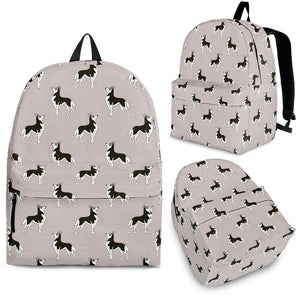 Siberian Husky Pattern Background Backpack