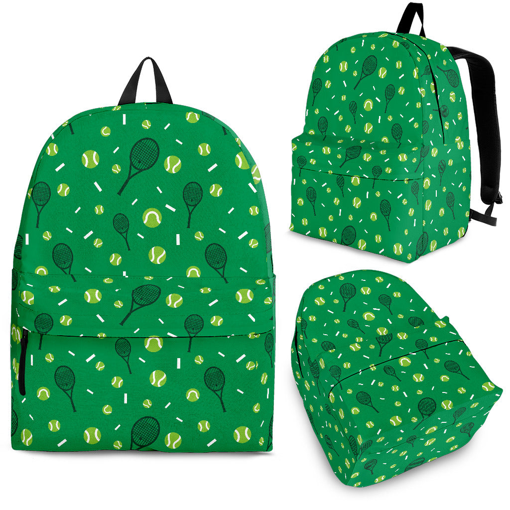 Tennis Pattern Print Design 03 Backpack