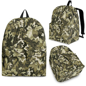 Green Camo Camouflage Flower Pattern Backpack