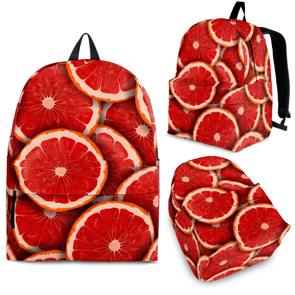 Sliced Grapefruit Pattern Background Backpack