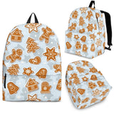 Christmas Gingerbread Cookie Pattern background Backpack